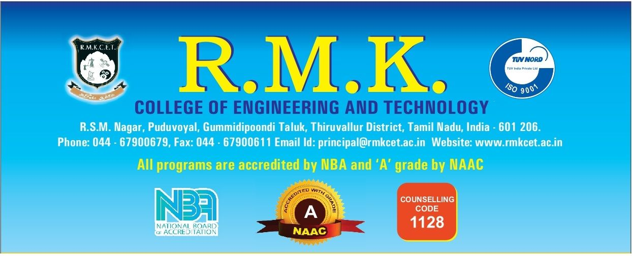 Welcome to RMK College of Engineering and Technology